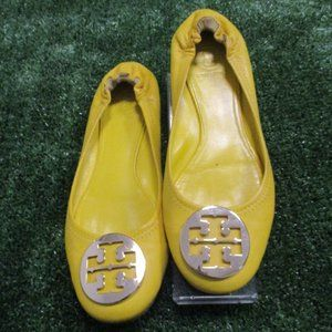 Tory Burch Yellow Leather Flats Shoes 9 9.5